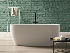 Vasca da bagno centro stanza ovale in KstonePORTOFINO - KAROL ITALIA