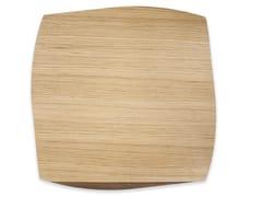 Tovaglietta quadrata in legnoPORTOFINO OAK WALNUT | Tovaglietta quadrata - LEONARDO TRADE