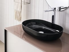 Lavabo da appoggio ovale singolo in opalitePORTOFINO | Lavabo in opalite - ARTELINEA