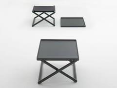 Tavolino quadrato in wengè con vassoio PORTOFINO | Tavolino in wengè - Portofino