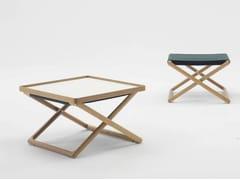 Tavolino rettangolare in legno con vassoio PORTOFINO | Tavolino in legno - Portofino