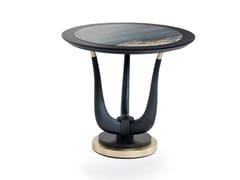 Tavolino rotondo in legno massello e top in marmoPOSEIDON | Tavolino - FRATELLI BOFFI