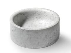 Lavabo da appoggio rotondo in pietra POZZO -