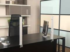 Pannello divisorio da scrivania con ganci a morsettoPR 70 - STUDIO T