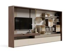 Parete attrezzata in legno con porta tv su misuraPR.855.1 - STELLA DEL MOBILE