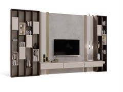 Parete attrezzata in legno con porta tv su misuraPR.862.1 - STELLA DEL MOBILE