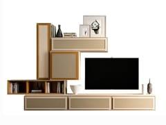 Parete attrezzata componibile in legno con porta tvPR.864.5 - STELLA DEL MOBILE