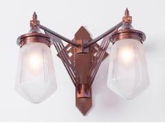 Lampada da parete a luce diretta fatta a mano in ottone PRAGUE III | Lampada da parete - Prague