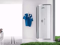 Box doccia angolare in vetro con porta scorrevole PRAIA - 8 - Praia