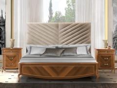 Letto king size in legno con testiera imbottitaPRESTIGE 2 | Letto con testiera imbottita - LINEA & CASA +39