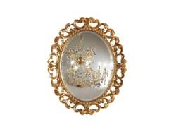 Specchio ovale in legno con cornice da paretePRESTIGE PLUS | Specchio ovale - BARNINI OSEO