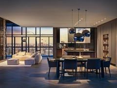Cucina componibile lineare in marmo Nero Marquina PRIMAVERA - GOLD EDITION -