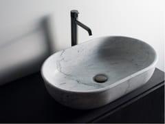 Lavabo da appoggio ovale singolo in marmo PRIME   Lavabo ovale - Prime