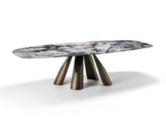 Tavolo rettangolare in marmo Dark Emperador e metalloPRINCE   Tavolo in marmo - ARKETIPO