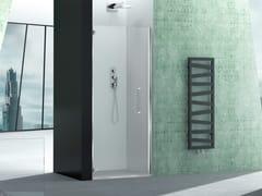 Box doccia a nicchia in vetro con porta a battentePRISMA 1.0 | Box doccia - MEGIUS