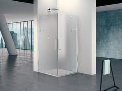 Box doccia quadrato in vetro con porta a battentePRISMA 2.0 | Box doccia modulare - MEGIUS