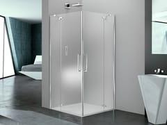 Box doccia quadrato in vetro con porta a battentePRISMA 2.0 | Box doccia quadrato - MEGIUS