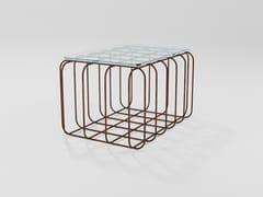 Tavolino da caffè rettangolare in cristalloPRISMA | Tavolino in cristallo - BAREL