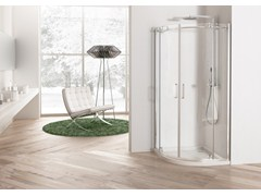 Box doccia angolare con porta a battente SOLODOCCIA BATTENTE R2B - Solodoccia