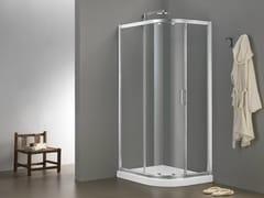Box doccia angolare in vetro con porta scorrevole MORE LIVE SWIM - More Live