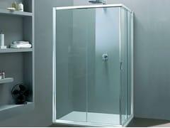 Box doccia angolare con porta scorrevole MORE LIVE A - More Live