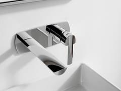 Miscelatore per lavabo a muro in acciaio TANGO | Miscelatore per lavabo a muro - Tango