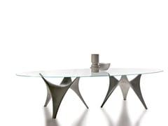 Tavolo ovale in vetro ARC | Tavolo ovale -