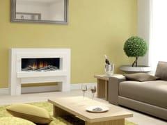 Caminetto elettrico a parete con vetro panoramico LINEA SUITE -