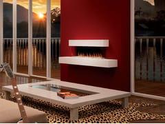 Caminetto elettrico a parete con vetro panoramico PANORAMA SUITE -