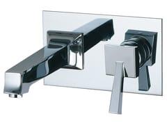 Miscelatore per lavabo a muro con piastra BRIDGE_MONO | Rubinetto per lavabo con piastra - Bridge_Mono