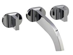 Miscelatore per lavabo a 3 fori a muro CUT | Miscelatore per lavabo a muro - Cut