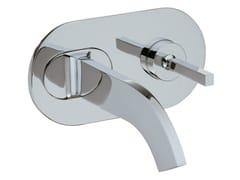Miscelatore per lavabo a muro con piastra CUT | Miscelatore per lavabo con piastra - Cut