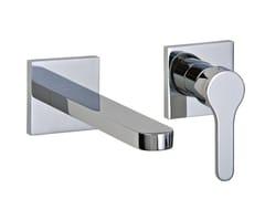 Miscelatore per lavabo a 2 fori a muro KLAB | Miscelatore per lavabo a muro - Klab