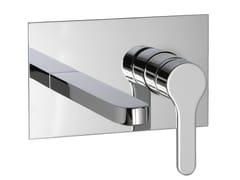 Miscelatore per lavabo a muro con piastra KLAB | Miscelatore per lavabo con piastra - Klab
