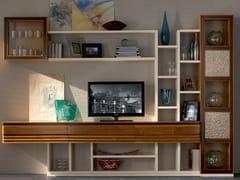 Parete attrezzata componibile in legno masselloELETTRA DAY | Parete attrezzata in legno massello - CANTIERO