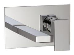 Miscelatore per lavabo a muro con piastra Q | Miscelatore per lavabo con piastra - Q