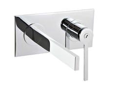 Miscelatore per lavabo a muro con piastra TIME | Miscelatore per lavabo con piastra - Time