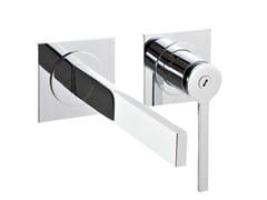 Miscelatore per lavabo a 2 fori a muro TIME | Miscelatore per lavabo a muro - Time