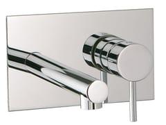 Miscelatore per lavabo a muro con piastra VELA | Miscelatore per lavabo con piastra - Vela