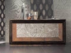 Madia foglia argento con ante a battente con cassettiÉTOILE DAY | Madia con cassetti - CANTIERO