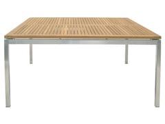 Tavolo da giardino quadrato in acciaio LUNAR | Tavolo da giardino quadrato - Berbeda