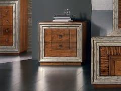 Comodino foglia argento con cassettiÉTOILE NIGHT | Comodino - CANTIERO