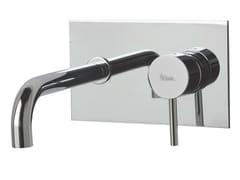 Miscelatore per lavabo a muro con piastra X-CHANGE_MONO | Miscelatore per lavabo a muro - X-Change_Mono