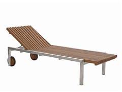 Lettino da giardino reclinabile con ruote ADAMAS | Lettino da giardino in teak - Adamas