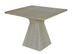 Tavolo da giardino quadrato in fibra sintetica PATIO -