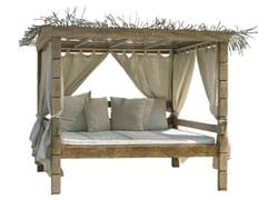 Letto da giardino in teak a baldacchino SENTOSA | Letto da giardino a baldacchino - Sentosa