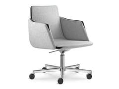 Sedia ufficio operativa ad altezza regolabile a 5 razze con ruote HARMONY | Sedia ufficio operativa con braccioli - Harmony