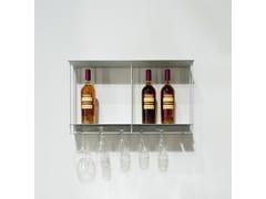 Portabottiglie / pensile in alluminioCantinetta - KRIPTONITE