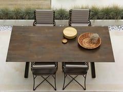 Tavolo da giardino rettangolare in HPL HAMPTONS GRAPHICS | Tavolo in HPL - Hamptons Graphics