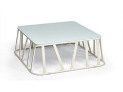 Tavolino da giardino basso quadrato in alluminio HAMPTONS GRAPHICS | Tavolino quadrato - Hamptons Graphics
